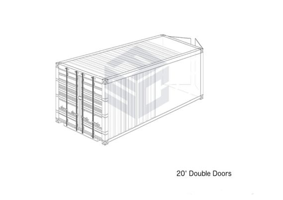 20' Double Doors