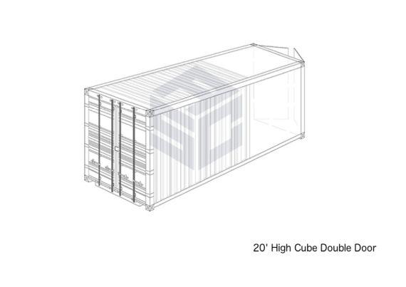20' High Cube Double Door