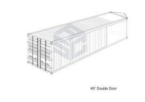 40' Double Door