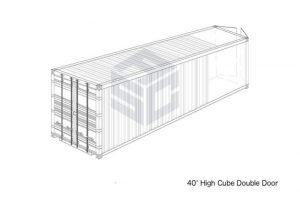 40' High Cube Double Door