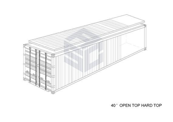 40' Open Top Hard Top
