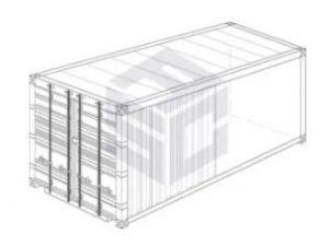 open top tarp container