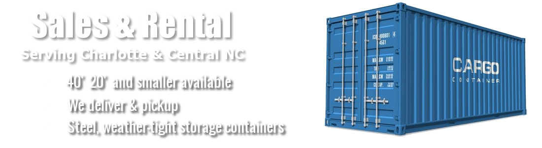 Charlotte NC area shipping containers for sale and rent